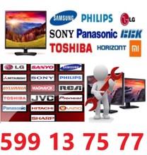ტელევიზორების შეკეთება პლაზმური, LCD და LED