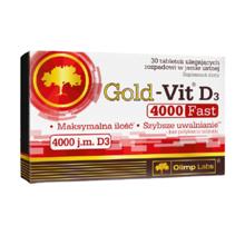Gold-Vit D3 Fast 4000 ვიტამინი 30 აბი