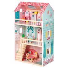 Janod Happy Day Doll's House ბარბის სახლი