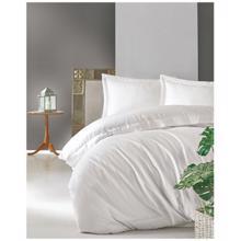 Cozy Home ორსაწოლიანი პრემიალური სატინის თეთრეულის კომპლექტი Elegant White