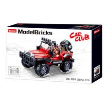 Sluban Model Bricks - წითელი Wrangler 4wd