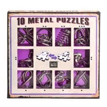 Tortuga თავსატეხი 10 Metal Puzzles - Purple Set