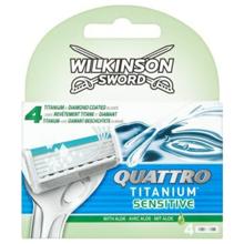 """Wilkinson - საპარსის პირი - კვადრო ტიტანიუმი """"სენსიტივი"""" 4 ცალი"""