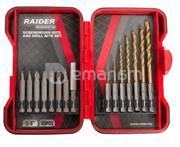 Raider ნაკრები ექვსწახნაგა ბურღების და ბიტების Raider 157795 15 ც