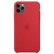 Apple Silicone Case for iPhone 11 Pro Max Red ქეისი