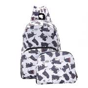 Eco Chic White Scatty Scotty Backpack - ჩანთა