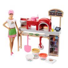 MATTEL Barbie Pizza Chef Doll and Playset თოჯინა და აქსესუარები