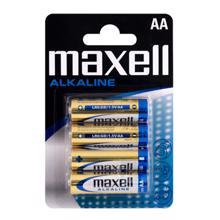 maxell ელემენტების შეკვრა 4 ცალიანი  AA ზომა