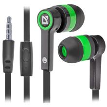 Defender Pulse 420 Black + Green მობილურის ყურსასმენი