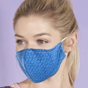 Eco Chic Blue Disrupted Cubes Face Cover - პირბადე