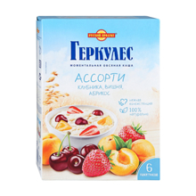Русский Продукт გერკულესის ასორტი #3 გარგარით და ალუბლით 210 გრ