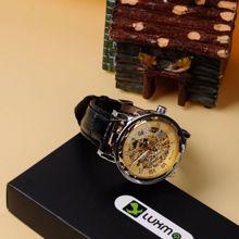 ორიგინალი Winner ბრენდის მექანიკური საათი, ღია მექანიზმით,