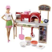 MATTEL Barbie Pizza Chef Doll and Playset ბარბი