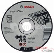 BOSCH საჭრელი დისკი Bosch Standard უჟანგავი ლით 125х1მმ SfI, прямой