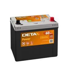 DETA  აკუმულატორი Power DB604 60Ah/390A 12V JIS