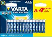 Varta ელემენტი VARTA Alkaline High Energy 8+4 AAA 1.5 V 12 ც