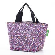 Eco Chic Purple Ditsy Lunch Bag - ჩანთა