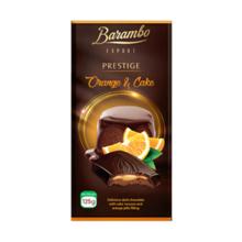 Barambo შოკოლადის ფილა ფორთოხლით და ნამცხვრით 125 გრ