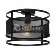 Luminex სანათი კედლის-ჭერის  Luminex Rim 1120 1x60W E27 შავი