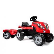 SIMBA FARMER XL RED TRACTOR დასაჯდომი ტრაქტორი მისაბმელით
