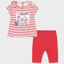 Mayoral Baby Girl Striped leggings set