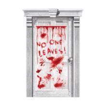 სისხლიანი კარის დეკორაცია No One Leaves
