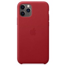Apple Leather Case for iPhone 11 Pro Red ქეისი