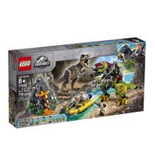 LEGO  JURASSIC WORLD რექსის და დინოს ბრძოლა