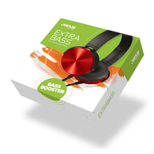 Jopus Headphone with Microphone Red ყურსასმენი