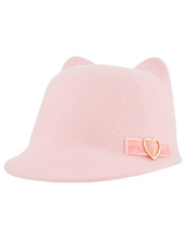 Monsoon Children PINK PENNY RIBBON BOWLER CAT HAT