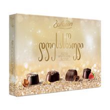 """Barambo შოკოლადის ნაკრები """"დღესასწაული"""" რძიანი შოკოლადის 210 გრ"""