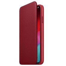 Apple Leather Folio for iPhone XS Red ქეისი