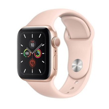 Apple Watch Series 5 40mm Gold Aluminum Case Pink Sport Band სმარტ საათი