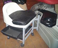 იყიდება ახალი პედიკურის სკამი ხელოსნისთვის