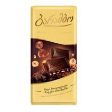 Barambo შავი შოკოლადის ფილა თხილით 90 გრ