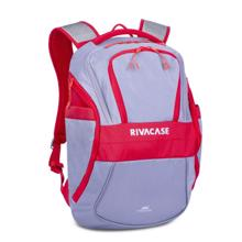 Rivacase 5225 Laptop Backpack Grey/Red  ნოუთბუქის ჩანთა