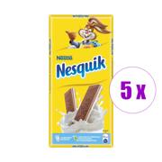 5 შეკვრა შოკოლადის ფილა რძიანი შიგთავსით Nesquik 100გრ 5ც