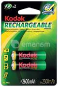 დასატენი ელემენტი Kodak AA  2600 mAh 2 ც.