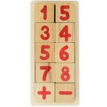 kubiki ხის სათამაშო მათემატიკური კუბები