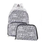 Eco Chic White Music Mini Backpack - ჩანთა