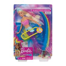 MATTEL Barbie დრიმტოპია მანათობელი  ქალთევზა