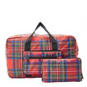Eco Chic Red Tartan Holdall - ჩანთა