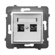 Ospel როზეტი კომპიუტერის CAT 5E Ospel Aria GPK-2U/K/m/00 2 განყოფილებიანი თეთრი
