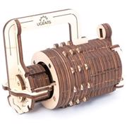 "UGEARS ""კოდური საკეტი"" (Combination lock) ასაწყობი მოდელი"