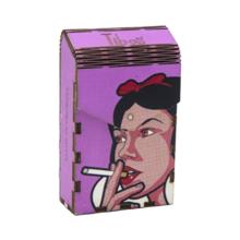 ხის ყუთი Smoking Snow White