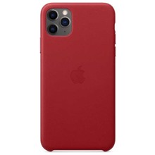 Apple Leather Case for iPhone 11 Pro Max Red ქეისი
