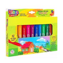 Globo პასტელის ნაკრები 12 ფერი Jumbo Wax Crayon