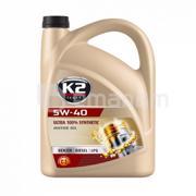 K2 ძრავის ზეთი K2 Ultra 100% Synthetic 5W-40 5 ლ (O34V0005)