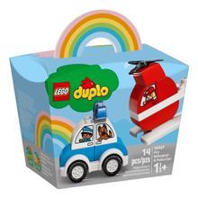 lego DUPLO-Fire Helicopter & Police Car კონსტრუქტორი
