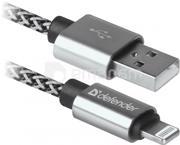 USB კაბელი DEFENDER 87807 USB 2.0 (AM) - Apple Lightning (M) 1 მ თეთრი